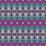 Vector seamless texture. Ethnic tribal geometric pattern. Aztec ornamental style Royalty Free Stock Photo