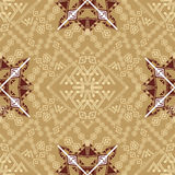 Vector seamless texture. Ethnic tribal geometric pattern. Aztec ornamental style Stock Photos