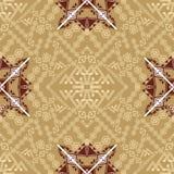 Vector seamless texture. Ethnic tribal geometric pattern. Aztec ornamental style Stock Photos