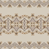 Vector seamless texture. Ethnic tribal geometric pattern. Aztec ornamental style Royalty Free Stock Image