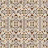 Vector seamless texture. Ethnic tribal geometric pattern. Aztec ornamental style Stock Image