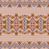 Vector seamless texture. Ethnic tribal geometric pattern. Aztec ornamental style Stock Image