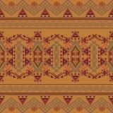 Vector seamless texture. Ethnic tribal geometric pattern. Aztec ornamental style Stock Photography