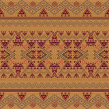 Vector seamless texture. Ethnic tribal geometric pattern. Aztec ornamental style Stock Photo