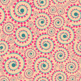 Vector seamless texture. Floral endless background with decorative elements and curls. Vector background for use in design. Use fo Royalty Free Stock Images