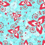 Vector seamless texture. Floral endless background with decorative elements and curls. Vector background for use in design. Use fo Stock Image
