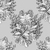Vector seamless texture. Vector Floral Seamless Pattern Background. For Christmas and Invitation cards decoration Stock Image
