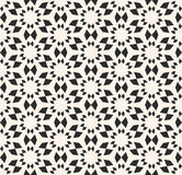 Vector seamless texture, floral tile pattern. Monochrome geometr Stock Photos