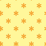 Vector seamless texture with flowers. Vector yellow seamless texture with flowers Royalty Free Stock Photos