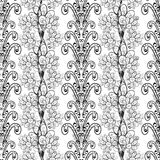 Vector seamless texture. With flowers on white background Royalty Free Stock Photo