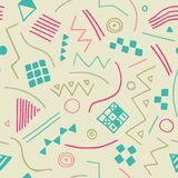 Vector seamless texture with geometrical shapes. Endless pastel background. Vector backdrop. Stock Photo