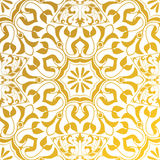 Vector seamless texture. Golden vintage pattern. Arabesque and floral ornaments Royalty Free Stock Photos