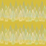 Vector seamless texture with lace. Compound seamless spring pattern. Endless yellow background. Vector backdrop Stock Photos