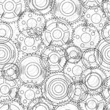 Vector seamless texture with mechanical  gear and Stock Photos