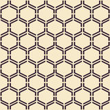 Vector seamless texture. Modern abstract background. Monochrome geometrical pattern with hexagons. Stock Image