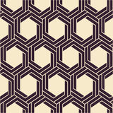 Vector seamless texture. Modern abstract background. Monochrome geometrical pattern with hexagons. Royalty Free Stock Photography