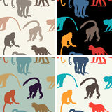 Vector seamless texture with monkeys Stock Image