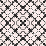 Vector seamless texture, monochrome geometric pattern with chain Stock Photos