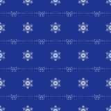 Vector seamless texture. Pattern with stylized decorative snowflakes and bows Stock Image