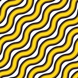 Vector seamless texture. Repeating pattern of wavy gold and black lines royalty free illustration