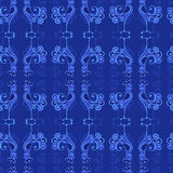 Vector seamless texture with roosters pattern Royalty Free Stock Photo