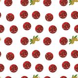 Vector seamless texture with salami and olives vector illustration