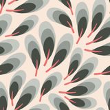 Vector seamless texture with simple feathers. Abstract vintage background. Stock Images