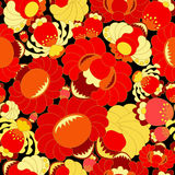 Vector seamless texture with slavs flower. russia seamless patte Stock Photos