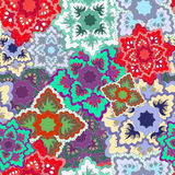 Vector seamless texture with slavs flower. russia seamless patte Royalty Free Stock Photography