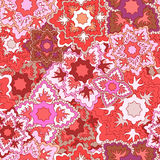 Vector seamless texture with slavs flower. russia seamless patte Stock Photo