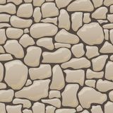 Vector seamless texture of stones in brown colors. royalty free stock photos