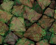 Vector seamless texture stonewall. Royalty Free Stock Images