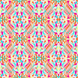 Vector seamless texture. Tribal geometric pattern. Electro boho color trend Stock Photography