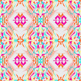 Vector seamless texture. Tribal geometric pattern. Electro boho color trend. Aztec ornamental style. Ethnic native American Indian ornaments stock illustration