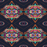 Vector seamless texture. Tribal geometric pattern. Electro boho color trend. Aztec ornamental style Stock Photos
