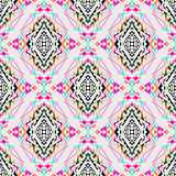 Vector seamless texture. Tribal geometric pattern. Electro boho color trend. Aztec ornamental style Royalty Free Stock Photography