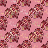 Vector seamless texture. Valentine's day theme Stock Photos