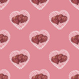 Vector seamless texture. Valentine's day theme Stock Image