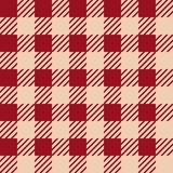 Vector seamless texture with vichy cage ornament. Red and white cages. Vector seamless texture with vichy cage ornament stock illustration