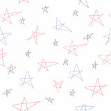 Vector Seamless Texture With Colorful Stars Stock Image