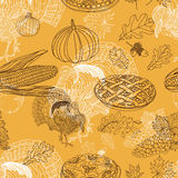 Vector seamless Thanksgiving pattern Stock Image