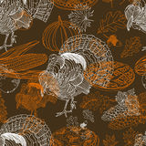 Vector seamless Thanksgiving pattern Royalty Free Stock Image