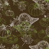 Vector seamless Thanksgiving pattern Royalty Free Stock Photography