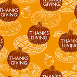 Vector seamless Thanksgiving pattern Royalty Free Stock Images