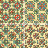 Vector Seamless Tile Patterns Stock Images