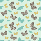 Vector seamless tiling pattern with butterflies Royalty Free Stock Photos