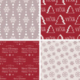 Vector seamless tiling patterns - christmas backgrounds Royalty Free Stock Photo