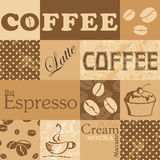 Vector seamless tiling patterns - coffee Stock Photos