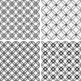 Vector seamless tiling patterns - geometric flowers Stock Photography