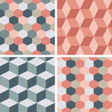 Vector seamless tiling patterns - geometric Stock Images